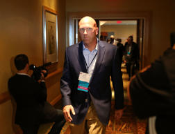 HOLLYWOOD, FL - APRIL 21: Republican presidential candidate Donald Trump's political strategist Rick Wiley arrives for a Trump for President reception with guests during the Republican National Committee Spring meeting at the Diplomat Resort on April 21 2016 in Hollywood, Florida.