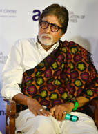 File: Amitabh Bachchan during the launch of Shatrughan Sinha's biography Anthing But Khamosh in Mumbai.