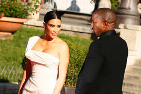 ROME, ITALY - MAY 22:  Kim Kardashian and Kanye West attend the 'La Traviata' Premiere at Teatro Dell'Opera on May 22, 2016 in Rome, Italy.  (Photo by Ernesto Ruscio/Getty Images)