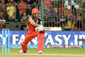 File: Virat Kohli of Royal Challengers Bangalore in action during an IPL match between Royal Challengers Bangalore and Kings XI Punjab at M Chinnaswamy Stadium in Bangalore on May 18, 2016.