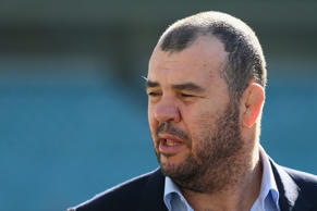 Australian Wallabies coach Michael Cheika speaks to the media about the upcoming Australia v England Test Series at Allianz Stadium on April 27, 2016 in Sydney, Australia