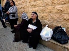 Iraqi Christians who fled their home from Iraq