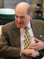 In this 2014 photo, Dr. Henry Heimlich describes the maneuver he developed to he...