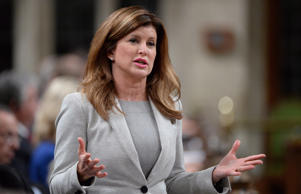 Interim Conservative Leader Rona Ambrose speaks during Question Period in the House of Commons on Parliament Hill in Ottawa on Thursday, May 5, 2016.