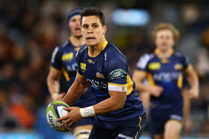 Matt Toomua of the Brumbies in action against Reds on July 1, 2016 in Canberra, Australia.