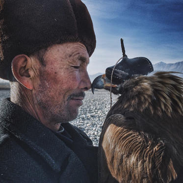 Slide 1 of 42: Grand Prize Winner: Siyuan Niu of China – Man and the Eagle