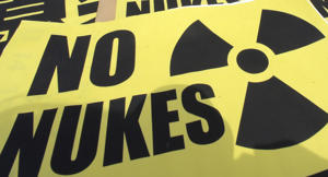 Anti-nuclear campaigners mark anniversary