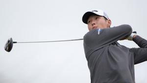 Danny Lee tees off at the 6th hole during day two of the 2016 AAM Scottish Open at Castle Stuart Golf Links, Inverness