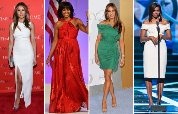 Michelle Obama vs Melania Trump: the fashion battle between the first ...
