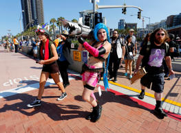 Fans of superhero movies, comic books and pop culture arrive in costume for opening day of the annual Comic-Con International in San Diego, California, United States July 21, 2016. REUTERS/Mike