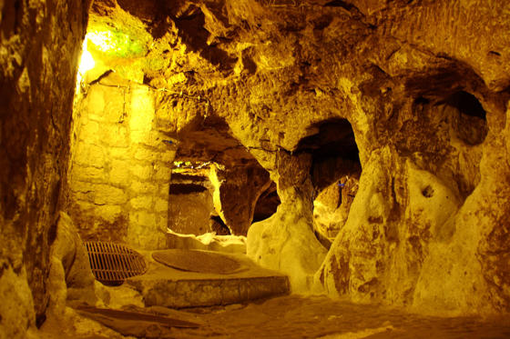 view of derinkuyu underground city