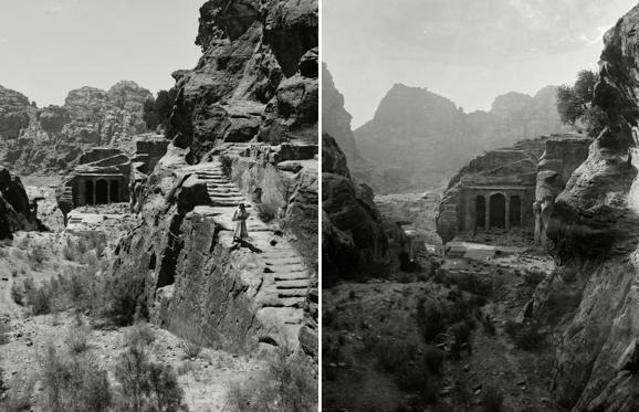 Lysbilde 1 av 27: Mount Sinai, Trans-Jordan. Petra, stairway to the great high place and funeral chapel, circa 1898-1946 Mount Sinai, Trans-Jordan. Petra, stairway to the great high place and funeral chapel, circa 1898-1946