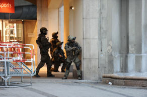 Police secures the area of a subway station Karlsplatz (Stachus) near a shopping mall following a shooting on July 22, 2016 in Munich. Several people were killed on Friday in a shooting rampage by a lone gunman in a Munich shopping centre, media reports