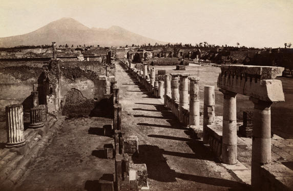(Original Caption) Pompei. Foro Civite. Civil Fort. Bettmann