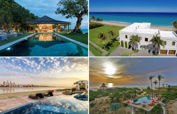 Dia 1 van 29: What a view! Spectacular beachfront homes around the world