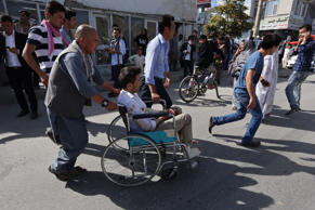 Thousands of demonstrators march towards the center of Kabul, Afghanistan, Satur...