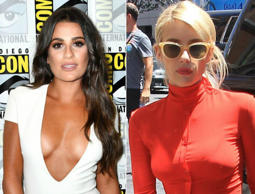 Lea Michele, Emma Roberts were hard-to-miss