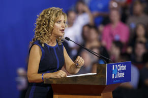 Debbie Wasserman Schultz, chair of the Democratic National Committee, speaks dur...