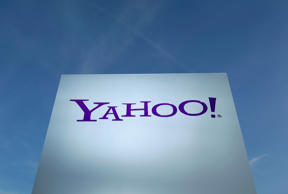 File: A Yahoo logo is pictured in front of a building in Rolle, 30 km (19 miles) east of Geneva, in this file picture taken December 12, 2012.