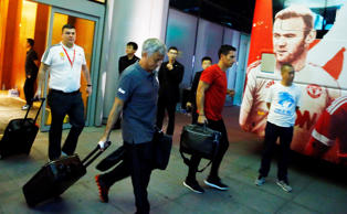 Manchester United at their team hotel - Sheraton Hotel, Beijing, China