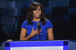 First lady Michelle Obama speaks during the 2016 Democratic National Convention ...