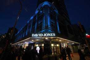 The David Jones Wellington story the night before its opening.