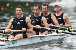The New Zealand men's four missed Olympic qualification at the last-chance regatta in Lucerne.