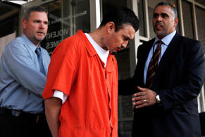 In this April 22, 2009 file photo, Ingmar Guandique, who was convicted of killing Chandra Levy, is seen in Washington. Prosecutors announced on July 28, 2016, that Guandique won't be retried for the killing.