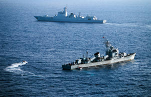 File: This file photo taken on May 5, 2016 shows crew members of China's South Sea Fleet taking part in a drill in the Xisha Islands, or the Paracel Islands in the South China Sea. China and Russia will hold joint naval exercises in the South China Sea in September, Beijing's defence ministry said on July 28, 2016, after an international tribunal invalidated the Asian giant's extensive claims in the area.