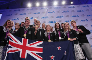 New Zealand medal winners from the London Olympics at The Cloud.