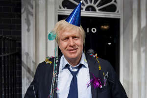 In this photo taken Friday, May 4, 2012 file photo, Madame Tussauds London mark Boris Johnson's victory in the London mayoral election by giving him a post-party makeover.