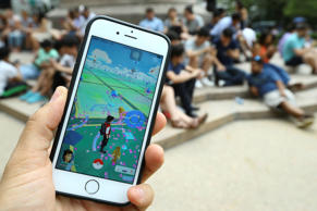 A Pokemon Go user plays Pokemon GO game in New York City, NY on July 13, 2016. Pokemon Go is a free-to-play location-based augmented reality mobile game which allows players to capture, battle, and train virtual Pokemon who appear throughout the real world. Pokemon Go was rolled out to iPhone and Android smartphone users in the United States, Australia and New Zealand on July 6.