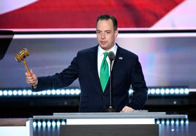 Reince Priebus calls the convention to order during the 2016 Republican National Convention at Quicken Loans Arena on July 19, in Cleveland.