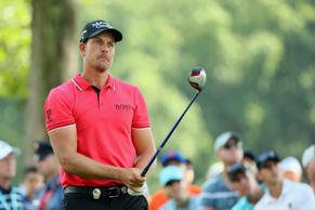 Henrik Stenson watches his tee shot on the 15th hole during the second round of the PGA Championship at Baltusrol Golf Club on July 29, 2016 in Springfield, N.J.