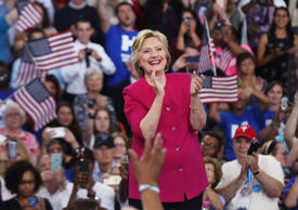 Democratic presidential candidate Hillary Clinton holds a rally a day after acce...