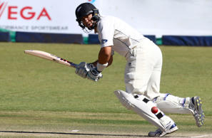 Ross Taylor competes during the third day of the first test match in a series of two tests between New Zealand and hosts Zimbabwe on July 30 2016 at the Queens Sports Club, in Bulawayo