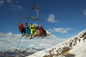 Skiers at Treble Cone. File Photo