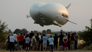 The largest aircraft in the world takes flight
