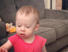 Baby gives hilarious impression of a horse