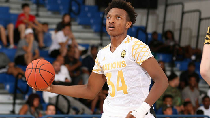 Wendell Carter Jr. at 2016 Adidas Nations in Southern California.
