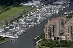 A file photo of the Liberty Landing Marina in Jersey City, N.J.