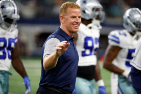 Dallas Cowboys head coach Jason Garrett walks off the field after warmups before a preseason game against the Miami Dolphins on Aug. 19, 2016.