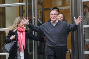 "Alleged Bonanno crime family captain Vincent Asaro walks with his lawyers outside of a Brooklyn court house  after a jury found him not guilty of one count of racketeering conspiracy and two extortion-related counts on November 12, 2015 in New York City. Asaro, 80, was charged in connection with the 1978 Lufthansa heist at JFK International Airport. The famed crime inspired part of the plot in the 1990 mob film ""Goodfellas""."