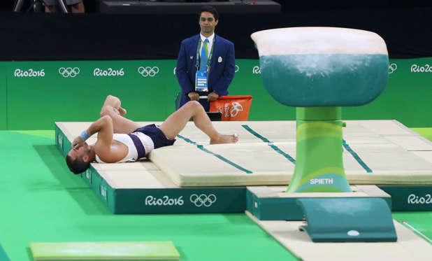 Terrible Accidente Sufrio El Gimnasta Samir Ea En Los Juegos