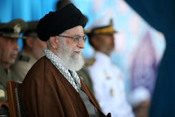 In this Sept. 30, 2015 file photo released by the official website of the office of the Iranian supreme leader, Supreme Leader Ayatollah Ali Khamenei attends a graduation ceremony of Iranian Navy cadets, in the Northern city of Noshahr, Iran.