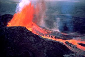 Eruption of the Kilauea Volcano.