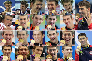 Arguably the greatest swimmer of all time, Michael Phelps has taken his Olympic medal tally up to 25: including an astonishing 22 golds.