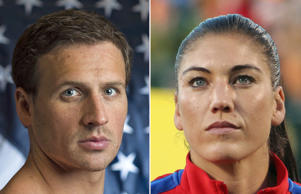 Swimmer Ryan Lochte, Hope Solo