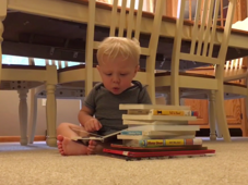 Boy is amazed on reading