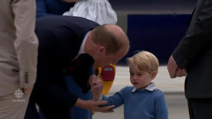 Prince George disses Trudeau on tarmac